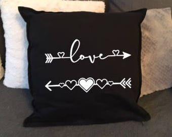 Love arrows cushion cover