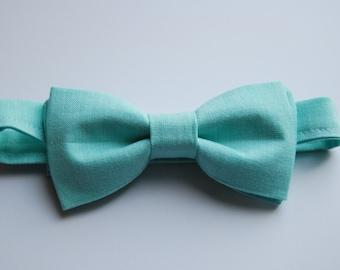 Sea Green Pastel Bow tie