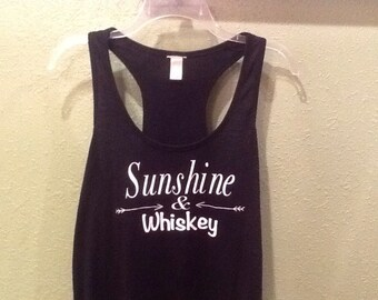Sunshine & Whiskey Racerback Tank || Sunshine and Whiskey Tank Top || Whiskey Shirt || Festival Clothing || Country Music Tank