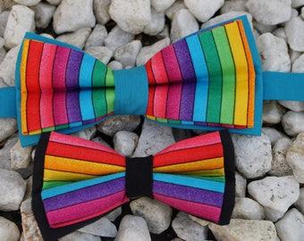Rainbow Pride Adjustable Men's Bow Tie