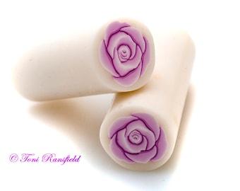 Pink Rose Polymer Clay Cane, Raw polymer Clay Cane, Millefiori Polymer Clay