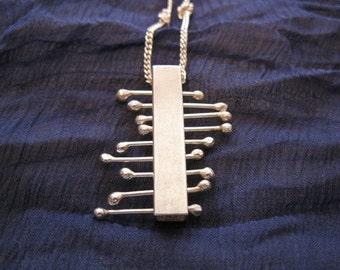 Square Tube Sabra necklace