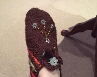 Handmade slipper socks