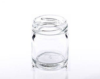 100 x 1.5oz (43ml) Glass Jars with Gold Lids - Suitable for small wedding favours