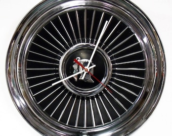 1958 Dodge Royal Lancer Hubcap Clock - 1950's Mopar Classic Car Hub Cap