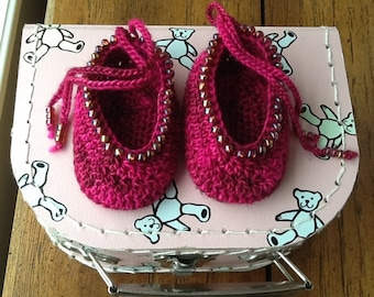 Pattern - Madeleine's Baby Shoes to Crochet