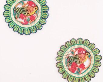 Vintage Basket/Trivet Wall Decor- Birds