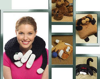 CAT DOG PET Pillows Sewing Pattern - Cats Dogs Neck Pillow - McCalls 5128 Cynthia Rose