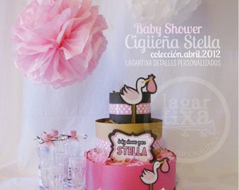 Stork Baby Shower Cigueña by Lagartixa USO PERSONAL
