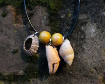 Triple shell mermaid necklace, choice from 3