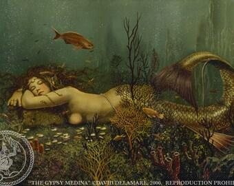"THE GYPSY MEDINA (Unframed 36""x24"" Giclée Print) Mermaid Art  by David Delamare"