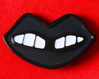 Black Lip Enamel pin