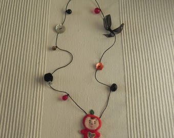 Necklace mother of Pearl buttons and more N 8