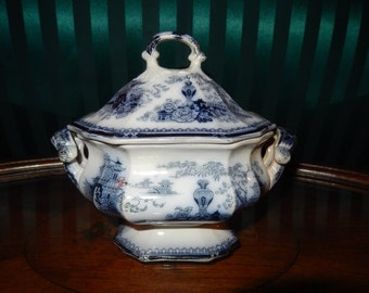 ANTIQUE IRONSTONE TUREEN with Lid
