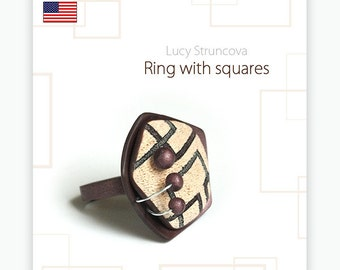 Ring with squares - guide by Lucy [EN]