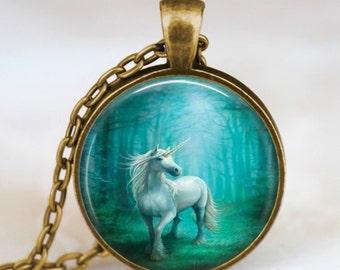 Unicorn necklace , Unicorn pendant , Unicorn jewelry ,  fairy fantasy charm necklace, whimsical jewelry, turquoise blue unicorn pendant