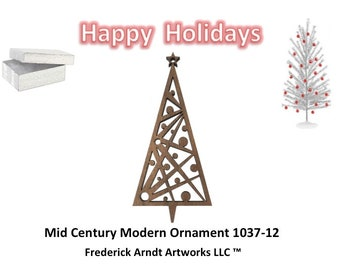 1037-12 Mid Century Modern Christmas Ornament