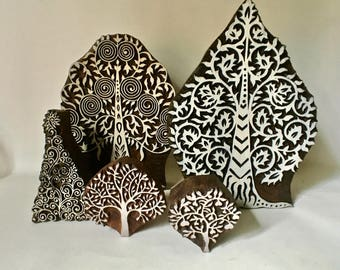 Carved Woodblock Trees Choose one for Printing Stamping and Clay Stamping