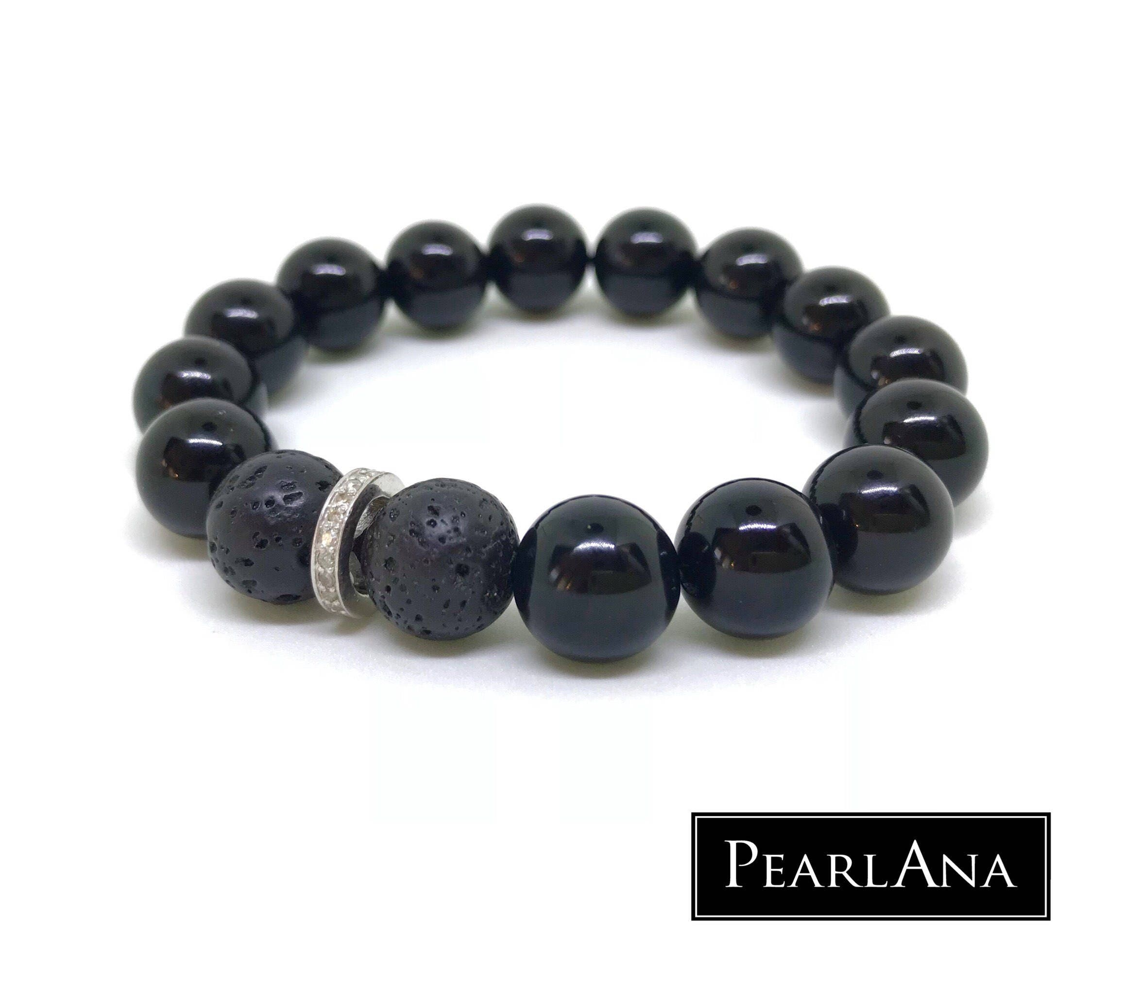 stretch black pave pcs jewelry p male real fullxfull diamond bracelet gemstone men il