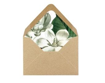 Printable Magnolia Blossom Envelope Liner/Patterned Backer 8.5 x 11 - INSTANT DOWNLOAD