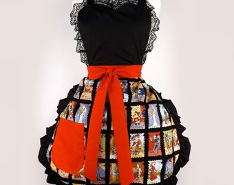 Cartas Marcadas Apron Day of the Dead Apron