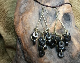 SALE #HonorSacrifice ~ 3 colors: Coconut Teardrop Dangles Earrings