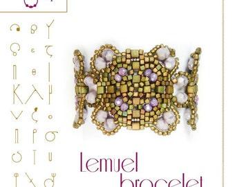 Armband-Anleitung / Muster Lemuel mit Glasperlen-PDF-Anleitung für den persönlichen Gebrauch