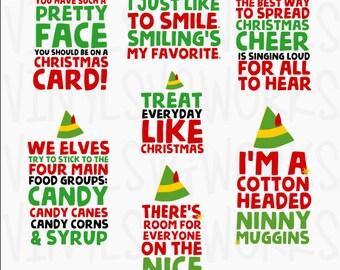 Elf Movie Quotes SVG FILE PACK