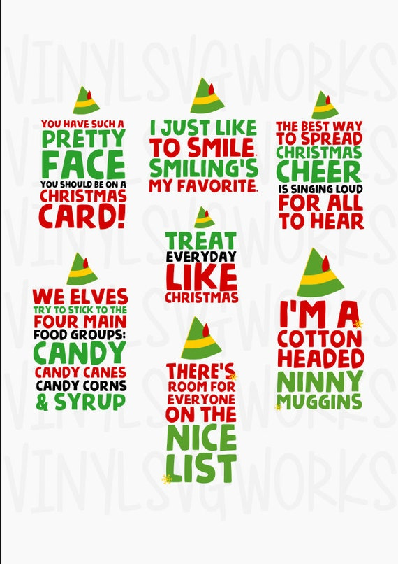 Elf Movie Quotes Svg File Pack