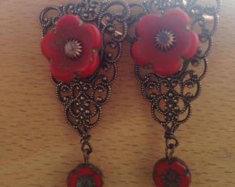 Pearl Bohemian earrings