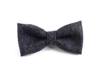 Grey Wool Bow Tie, Mens Bow Tie