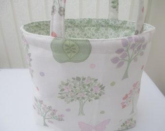 Girls tote bag/ nursery bag/book bag/dance bag/toddler bag.  Gift for girls. Easter gift
