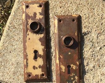 Vintage Rustic 7in Door Plates