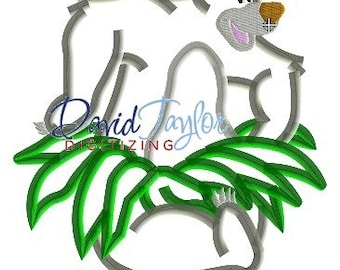 Jungle Book - Dancing Baloo - Embroidery Machine Design - Applique - Instant Download - David Taylor Digitizing