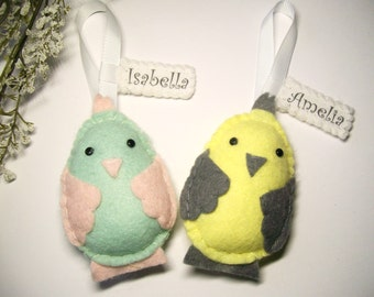 Easter Chick, Personalised Easter Decorations, Gifts for Children / Kids, Easter Plush, Felt Chick, Choice of Colours