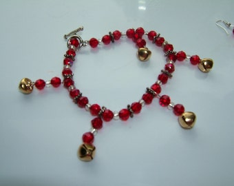 Jingle Bell Bracelet and Earrings
