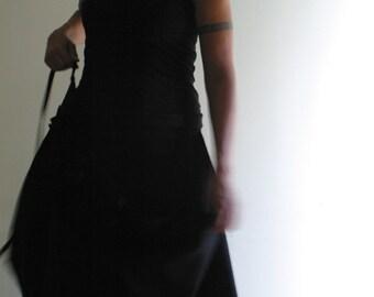 Wool Wrap Skirt in Black by NervousWardrobe on Etsy
