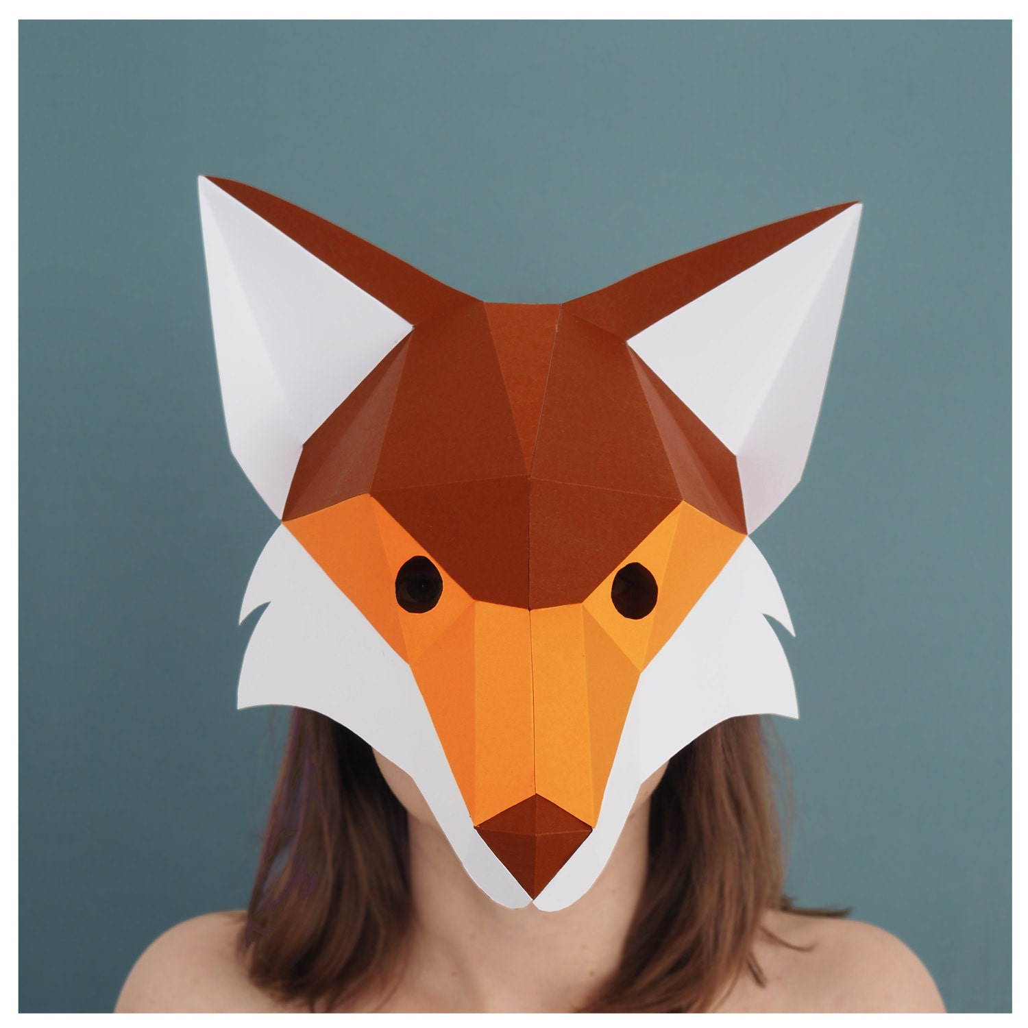 Fox mask printable template fantastic mr fox costume zoom jeuxipadfo Image collections