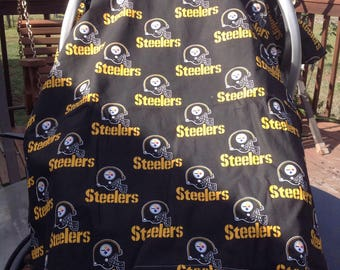 Pittsburgh Steelers Inspired  Infant Seat Canopy/Car Seat/Tent Cover