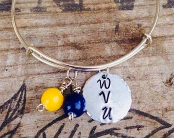 College football bracelets~ Wvu bracelet~ Choose your favorite college or pro team