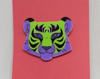 LIME GREEN Tiger Pin