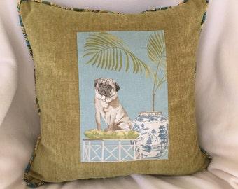 Dog pillow pug