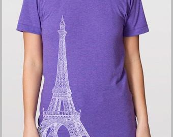 Vintage Paris Eiffel Tower T shirt Men's Women's Unisex Tee EIffel Tower Paris Gift Tshirt American Apparel  T-shirt