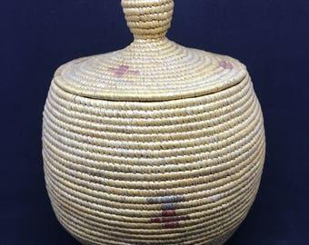 Stunning Antique Athabaskan Grass Basket