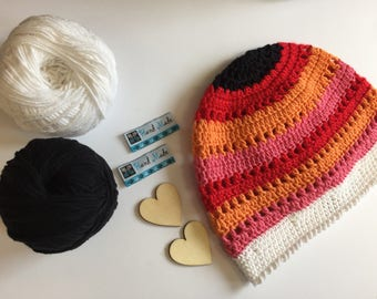 Knitted multi-color classic hat