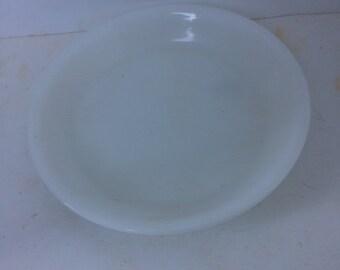 milk glass pie plate