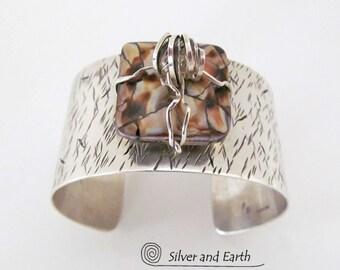 Sterling Silver Cuff Bracelet, Wide Silver Cuff, Handmade Silversmith Jewelry, Metal Cuff Bracelet, One of a Kind, Bold Statement Jewelry