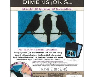 Dimensions Bird on a Wire Felt Art Kit - beginner level
