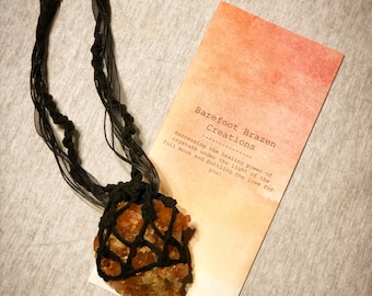 Crystal Necklace/ Aragonite Necklace/ Large Aragonite Necklace/ Statement Necklace