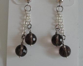 Smokey Quartz Earrings  -   #406